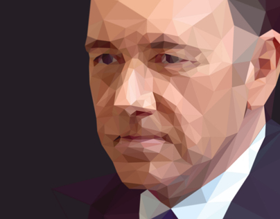 Low Poly Portrait Process  |  Frank Underwood