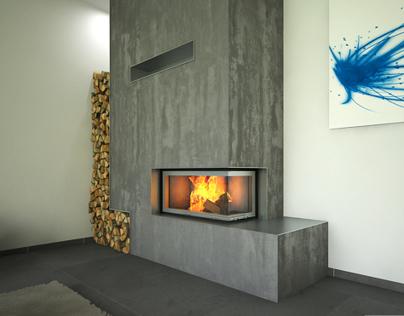 Fireplace // Brunner #4 corner modern