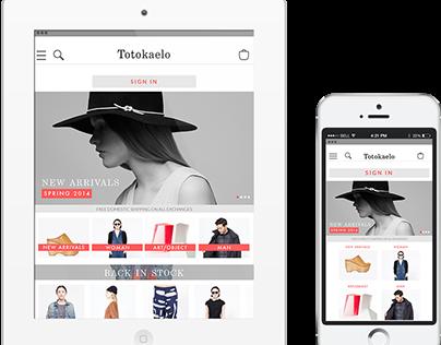 Totokaelo - Responsive Website Design