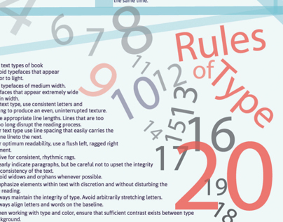 20 Type Rules Posters