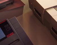 3D modeling: SNES.