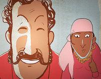Flash cartoon animation for Arthur Chilingarov