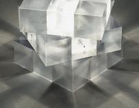 Rubiks lamp.