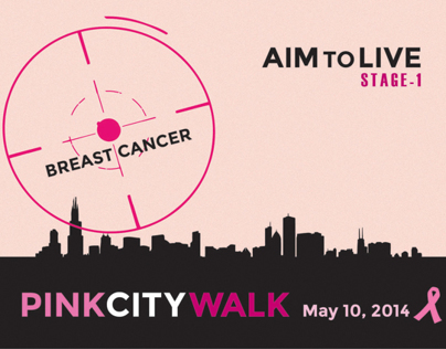 AIM TO LIVE Breast Cancer Awareness Print Design
