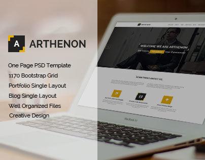 Arthenon Creative One Page Portfolio