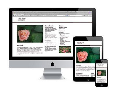 Longwood Gardens: Responsive Site