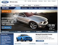 2010 Ford Mustang Website