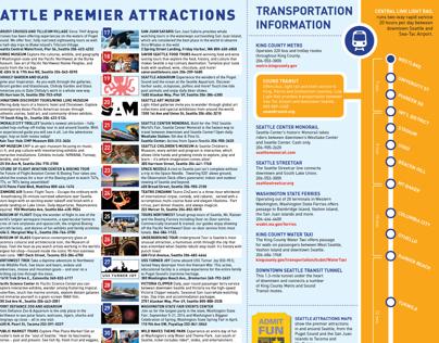 Puget Sound Attractions Council Concierge Map