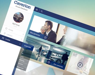 Caverion - Admin page