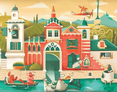 Illustration- Zizzi Spring Menu