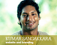 Kumar Sangakkara - website and branding concept