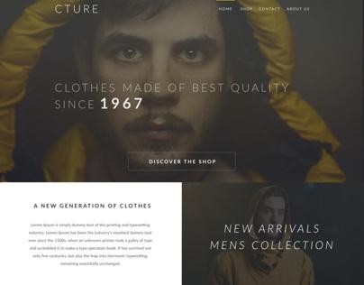 Cture - web design