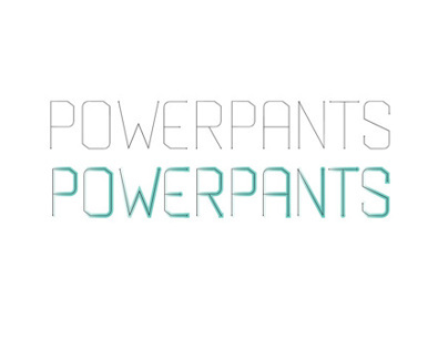 Powerpants, Typeface Design