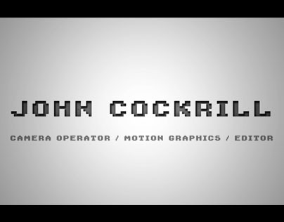 John Cockrill - Demo Reel 2013