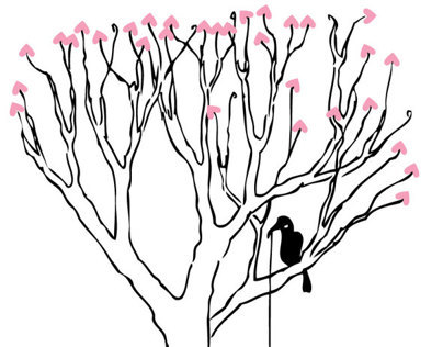 Ravens Sitting Tree