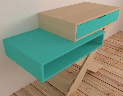 2M CROSSED SIDE TABLE