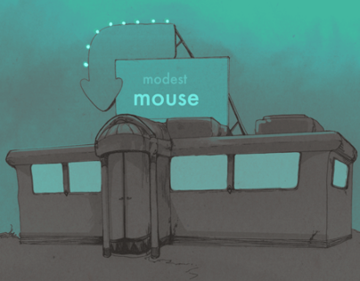 Modest Mouse Animated Posters