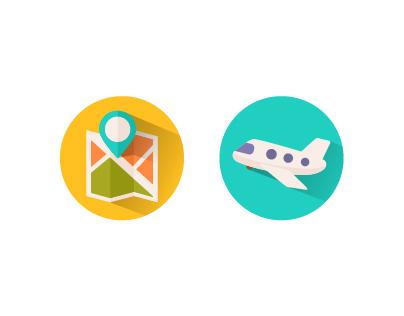 Shady I Con, Travel Flat Icons