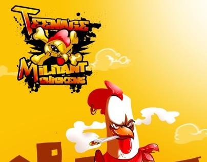 Teenage militant chickens