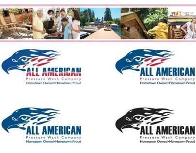 All American Pressure Wash Logo & Branding
