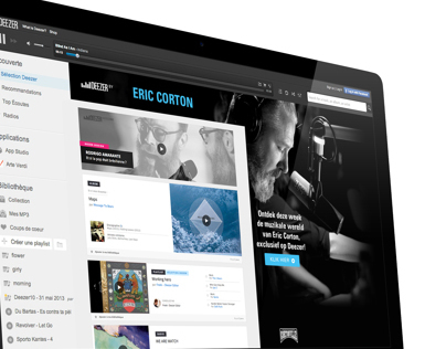 Deezer Home Pages