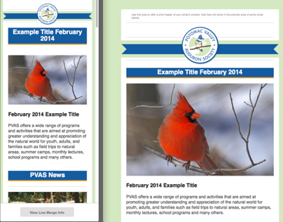 Potomac Audubon Society - Responsive Email