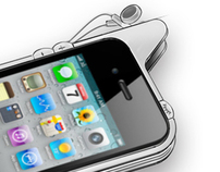 Earbud Bumper for iPhone 4