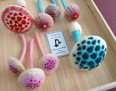 Needle-felted Mushrooms