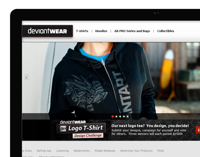 deviantWEAR's Re-design