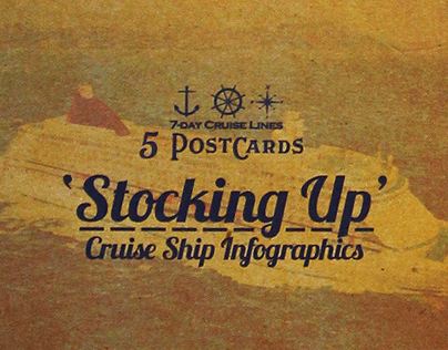 'Stocking Up' 7-Day Cruise Line Infographics