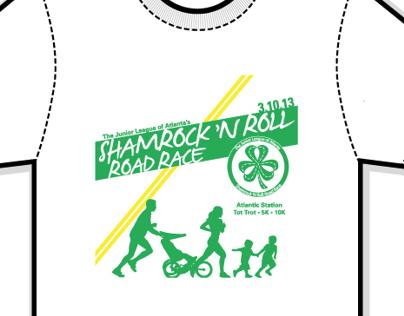 T-Shirt Design for JLA Shamrock 'n Roll Road Race