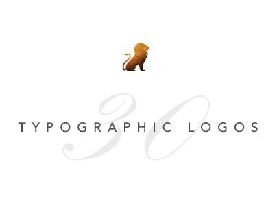 30 typographic logos