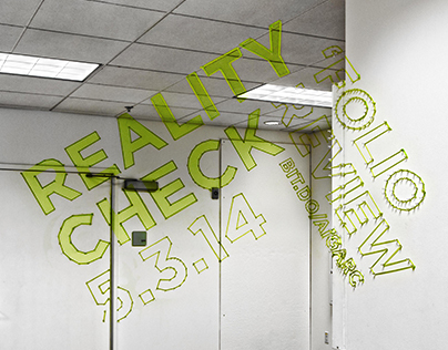 Reality Check (Anamorphic Installation)