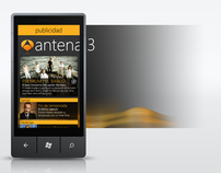 Antena3 Windows phone 7 application