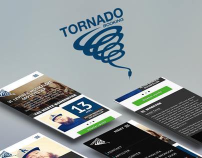 Tornado Booking webdesign