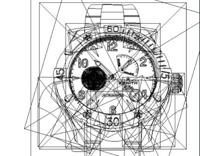 Reloj en vectores/Vector of a wristwatch
