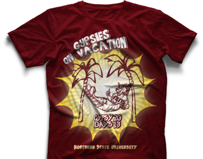 Gypsies on Vacation - NSU Homecoming T-Shirt