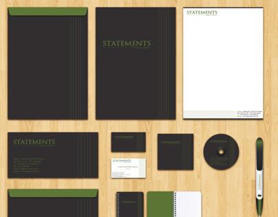 Statements Logo, Corporate Identity Design & webssite