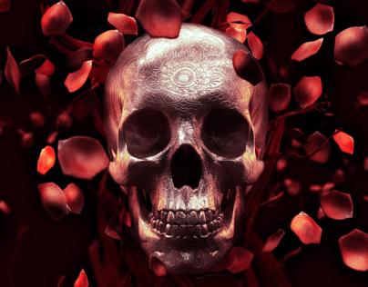 Rose Petal Skull- Free Wallpaper