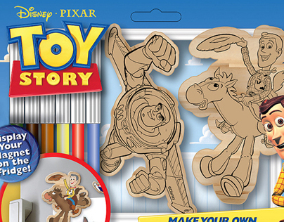 Toy Story Wooden Magnets Packaging