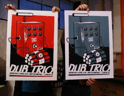 Dub Trio (London) Silkscreen Poster