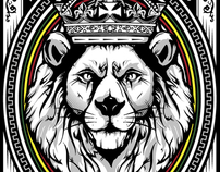 Rasta Lion Illustration