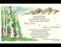 Watercolor Aspen Invitation
