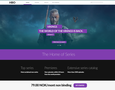 HBO - Redesign