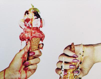 CMYK Ice Cream Print