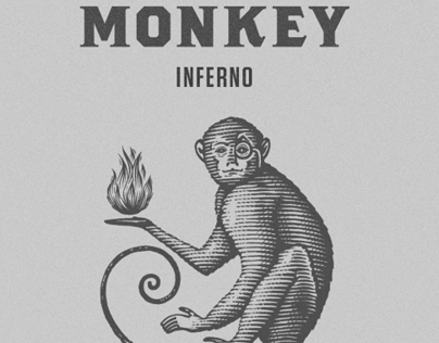 The Monkey Inferno Logo Illustrated by Steven Noble