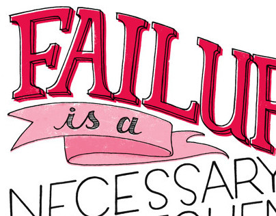 on the topic of failure // hand lettering