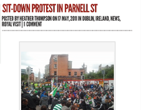 Newsdigger news - Sit-down protest in Parnell St