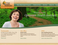 Optimum Health Institue Web Site Re-design
