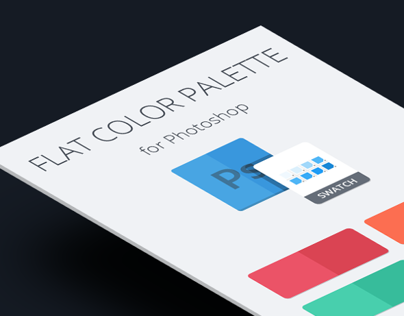 Free palette flat colors for Photoshop presets